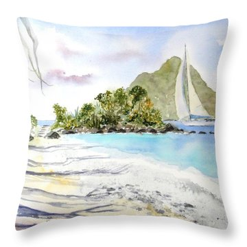 Morning Shadows, Little Thatch Throw Pillow