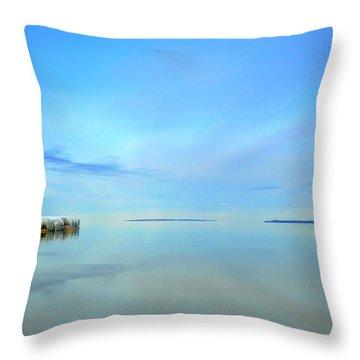Morning Sky Reflections Throw Pillow