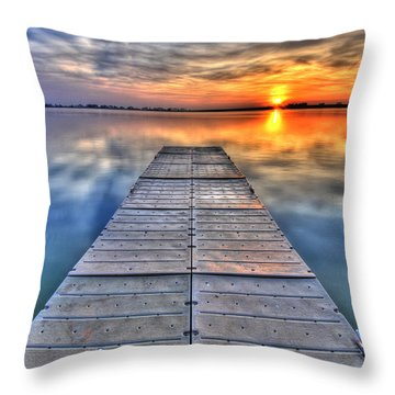 Morning Sky Throw Pillow by Scott Mahon
