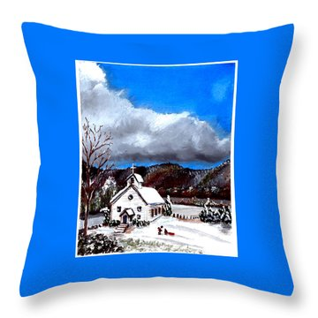 Morning Snow Ministry Throw Pillow