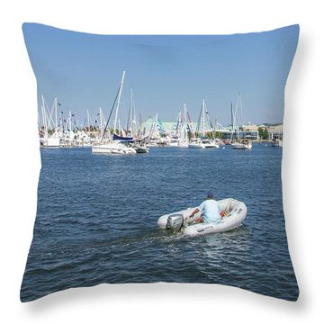 Solitude On The Creek Throw Pillow