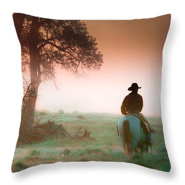 Morning Solitude Throw Pillow by Toni Hopper