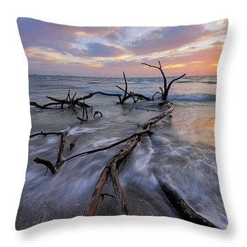 Morning Stretch Throw Pillow by Mike Lang