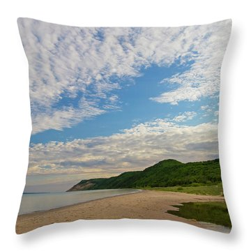Throw Pillow featuring the photograph Morning Stroll by Heather Kenward