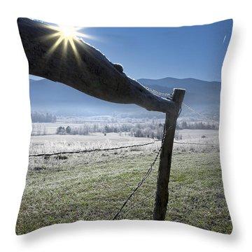 Throw Pillow featuring the photograph Morning Sun by Ken Barrett