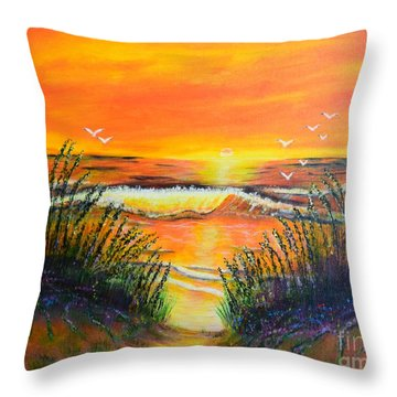 Morning Sun Throw Pillow by Melvin Turner