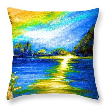 Morning Sunrise 9.6 Throw Pillow