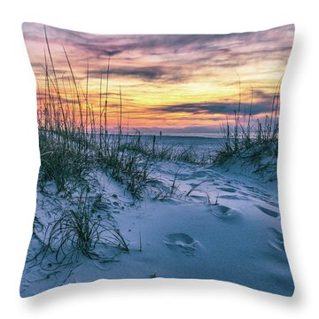 Throw Pillow featuring the photograph Morning Sunrise At The Beach by John McGraw