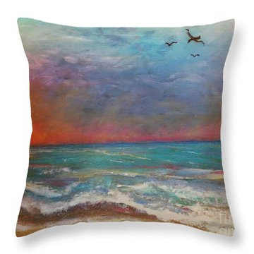 Morning Sunrise Throw Pillow by Vickie Scarlett-Fisher