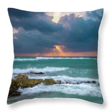 Morning Surf Throw Pillow
