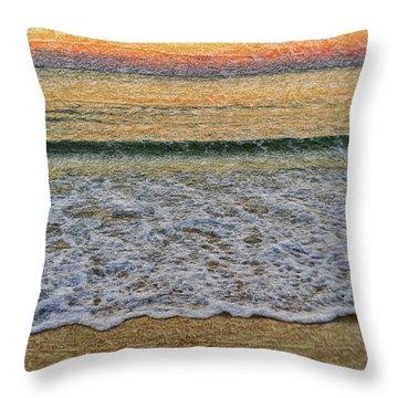 Morning Textures Throw Pillow