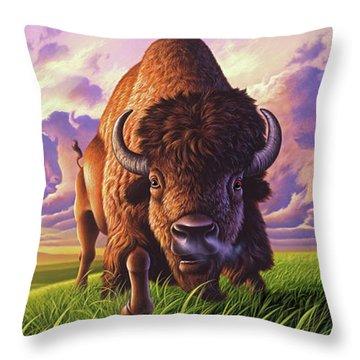 Morning Thunder Throw Pillow by Jerry LoFaro