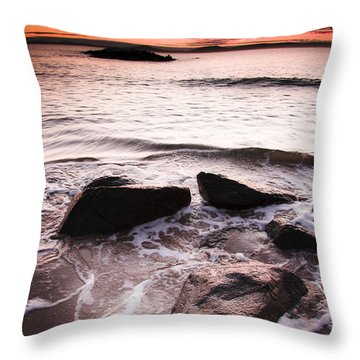 Throw Pillow featuring the photograph Morning Tide by Jorgo Photography - Wall Art Gallery