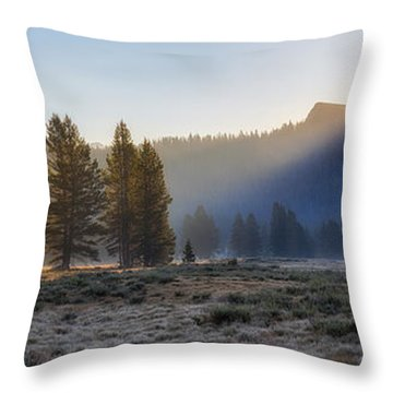 Morning Tuolomne  Throw Pillow