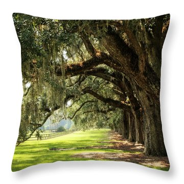 Morning Under The Mossy Oaks Throw Pillow