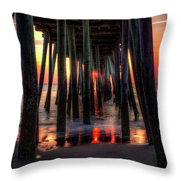 Morning Under The Pier Throw Pillow