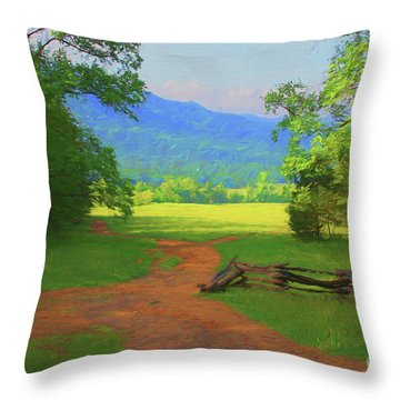 Morning View Throw Pillow by Geraldine DeBoer