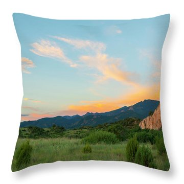 Throw Pillow featuring the photograph Morning View by Tim Reaves