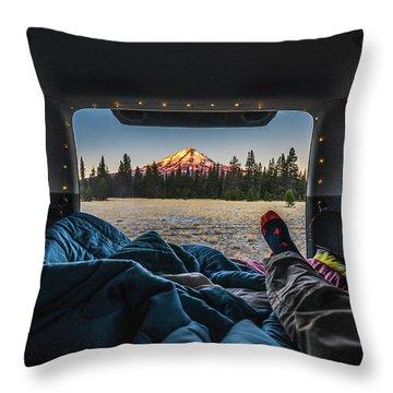 Morning Views Throw Pillow by Alpha Wanderlust