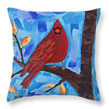 Morning Visit Throw Pillow