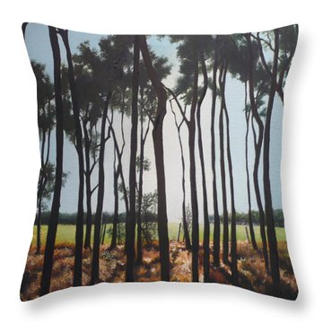 Morning Walk. Throw Pillow