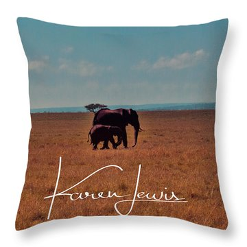 Throw Pillow featuring the photograph Morning Walk by Karen Lewis