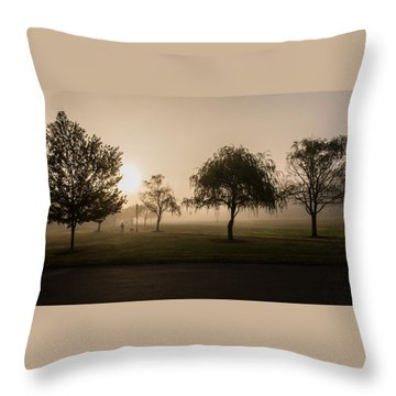 Morning Walk Throw Pillow
