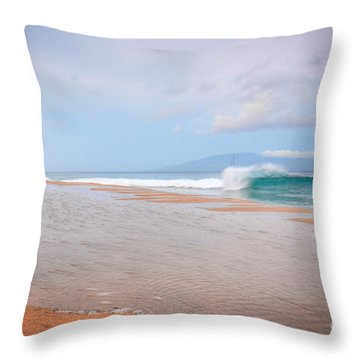 Throw Pillow featuring the photograph Morning Wave by Kelly Wade