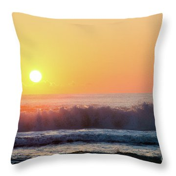 Morning Waves Throw Pillow