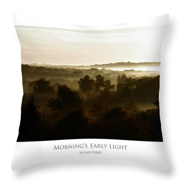 Throw Pillow featuring the digital art Morning's Early Light by Julian Perry
