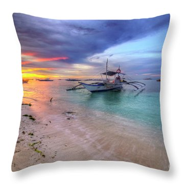 Throw Pillow featuring the photograph Morningtide 2.0 by Yhun Suarez