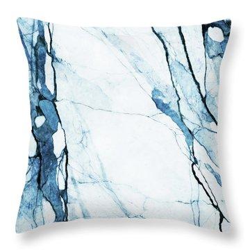 Moroccan Blues Throw Pillow by Uma Gokhale
