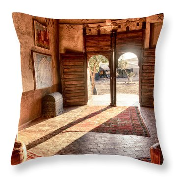 Moroccan Kasbah Throw Pillow by Kathy Adams Clark
