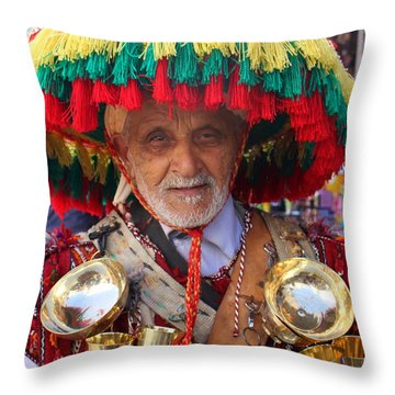 Throw Pillow featuring the photograph Moroccan Water Seller by Ramona Johnston