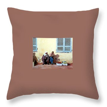 Morocco Throw Pillow by Tim Johnson