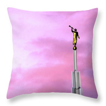 Moroni At Dawn Throw Pillow