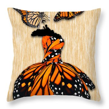 Throw Pillow featuring the mixed media Morphing by Marvin Blaine
