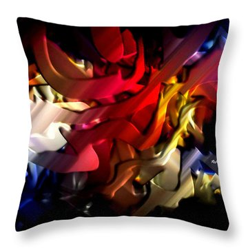 Throw Pillow featuring the digital art Morphism Of Desire by Rafael Salazar