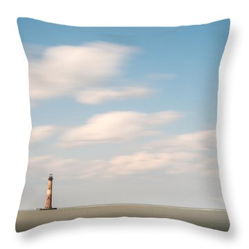 Morris Island Lighthouse Color Throw Pillow