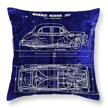 Morris Minor Car Throw Pillow