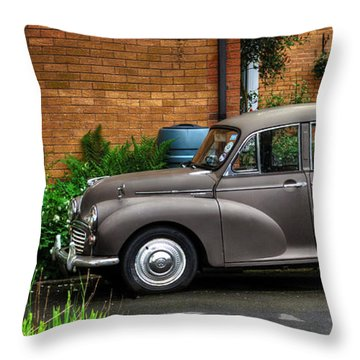 Morris Minor Throw Pillow