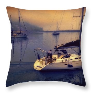 Morro Bay Dawn Throw Pillow