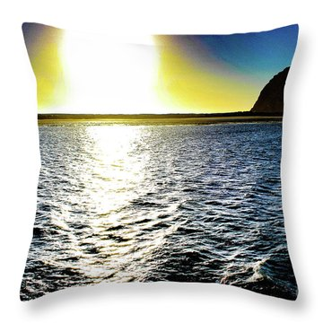 Morro Rock Throw Pillow