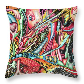 Mortal Fiber Throw Pillow