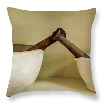 Throw Pillow featuring the photograph Mortar And Pestle by Paul Freidlund