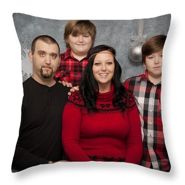 Morvilla Family Holiday Throw Pillow
