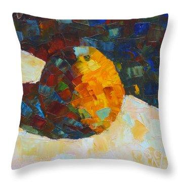 Mosaic Citrus Throw Pillow