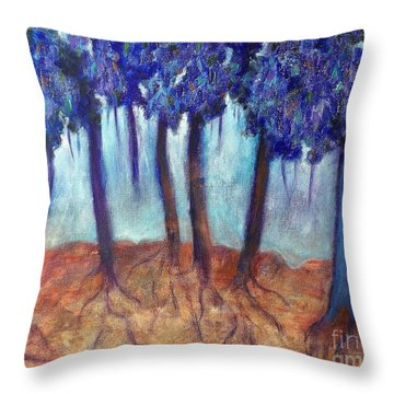 Mosaic Daydreams Throw Pillow by Elizabeth Fontaine-Barr