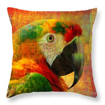 Mosaic Macaw 2016 Throw Pillow