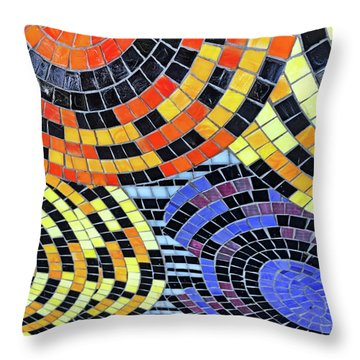 Mosaic No. 113-1 Throw Pillow